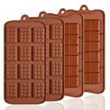 Lot de 4 moules en Silicone pour Chocolat, Senhai 2 Types d'Break Apart antiadhésif Candy Protéines et Energy Bar Moule à Plaque de Cuisson …