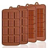 4 moldes de silicona para chocolate, Senhai 2 tipos de rotura Apart...