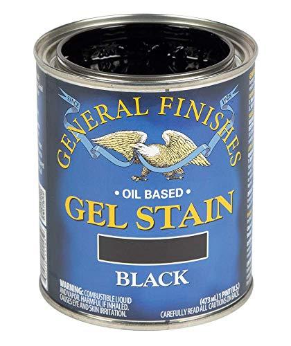 General Finishes Oil Base Gel Stain, 1 Pint, Black