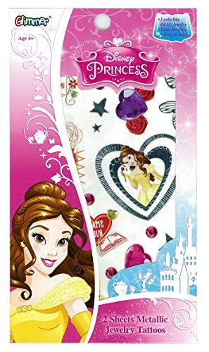 Disney Belle en het Beest Belle Glimmer Body Jewelry afdichting kostuum accessoires voor plaatstaal W11.8XH17.7cm 95735