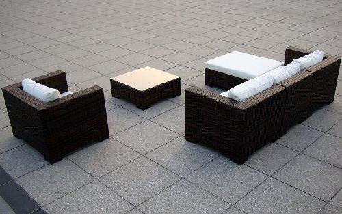 Sitzgruppe Daydreamer Rattan 4-teilig schwarz kaufen  Bild 1*