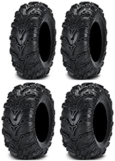 Full set of ITP Mud Lite II (6ply) 25x8-12 and 25x10-12 ATV Tires (4)