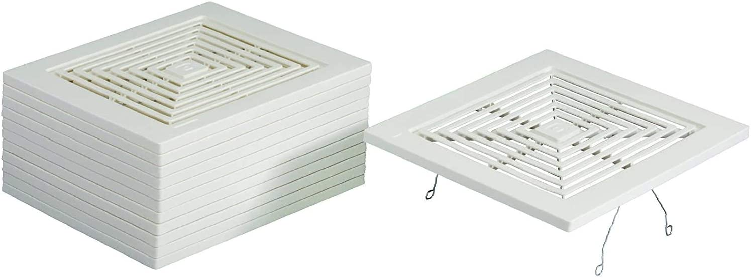 1 Pack of 1 White Broan-NuTone BP46 Fan Spring Mounted Grille
