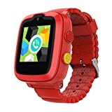 2020 Model - 4G Kids Smartwatch with GPS Tracker | Touch Screen | Remote Monitoring | SOS | Video Call | Safe Zone Gift for Boys\/Girls (Red)