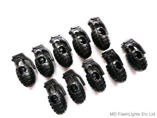Lot de 10 Cordons de Serrage Style Grenade pour Couteaux de Survie