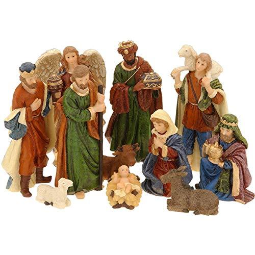 Générique 11 Figurines de Crèche de Noël - Nativité - Santon