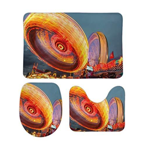 Alfombra bellamente Impresa, 15 '' × 25 '', Alfombra de Terciopelo Coral Tres Juegos, Parque de Atracciones