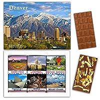 """DA CHOCOLATE キャンディ スーベニア """"DENVER"""" DENVER チョコレートセット 7,2×5,2一箱 (MILK Orange Cedar Mint)"""