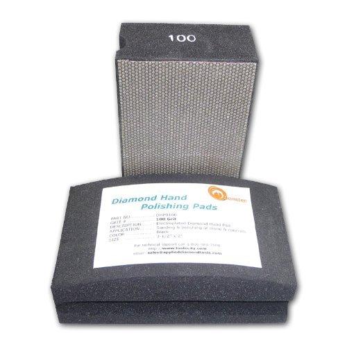 Monster Diamond Hand Polishing Pads for Stone/Concrete 100 Grit