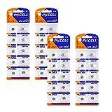 Botón de La Batería de La Moneda, 40 Pcs Pilas para Audífonos, Pilas de Botón Alcalinas, Batería de Botón, Batería Alcalina, para Reloj