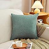 Almohada,Diseño ergonómico para un Mejor Soporte para Dormir en la Cabeza, el Cuello y los Hombros Almohada -Verde Claro_50 * 50cm