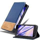 Cadorabo Hülle für Samsung Galaxy XCover 4 / XCover 4S in BLAU BRAUN – Handyhülle mit Magnetverschluss, Standfunktion & Kartenfach – Hülle Cover Schutzhülle Etui Tasche Book Klapp Style