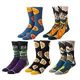 Dragonball 5 Pack Mens Crew Socks