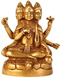 escultura de bronce de dioses hindúes brahma vishnu y shiva