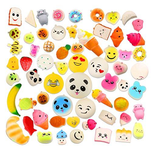 Squishy Spielzeug 20 Stück, Acelife Squisies Set Kawaii Party Geschenke für Kinder, Anti-Stress Squeeze Spielzeug mit Schlüsselanhänger, langsame Rising Toys Kinderspielzeug für Jungen Mädchen
