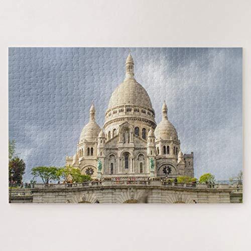 CICIDI Sacre Coeur Basilique in Montmartre, Paris, France Jigsaw Puzzle 1000 Pieces for Adult Entertainment DIY Toys , Graet Gift Home Decor