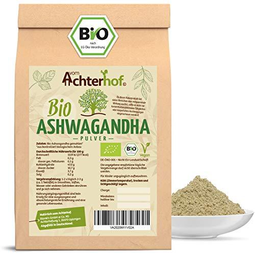 Ashwagandha Pulver BIO (250g) |100% ECHTE Ashwagandhawurzel gemahlen aus Indien | indischer Ginseng | Ayurveda