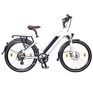"NCM Milano Bicicletta elettrica da Trekking, 250W, Batería 48V 13Ah 624Wh 26"" Bianco"