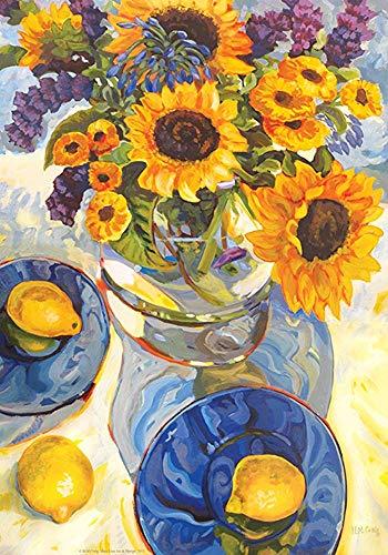 Middag Zonnebloemen 30 X 45 Cm Decoratieve Kleurrijke Zomer Bloem Vaas Citroen Tuin Vlag