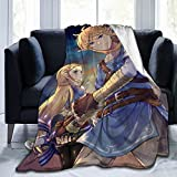 The Leg-End of Zel-Da Anime Soft Blanket Fuzzy Warm Throws For Winter Bedding, Couch and Plush House Warming Gift For Adults & Kids 50'X40'