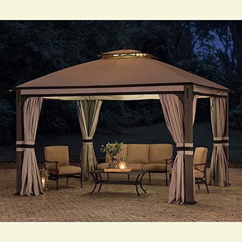 Original Replacement Canopy for Shadow Creek Gazebo (10X12 Ft) L-GZ1140PST Sold at BigLots, Light Gray - Sunjoy 110109025