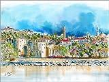 Poster 40 x 30 cm: Antalya, Blick zur Altstadt von Hartmut