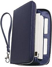 BLUE SINCERE 【主婦と共同開発】印鑑も入る 通帳ケース 磁気防止 大容量 カード12枚収納 通帳入れ 革 レザー レディース RFID パスポート カードケース / TC1