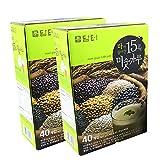 DAMTUH Korean Roast Grain with Yam Tea, 15 Roasted Grains Mixed Powder Breakfast Drink (Misugaru, 20g) 2 Boxes (40 Sticks x 2)