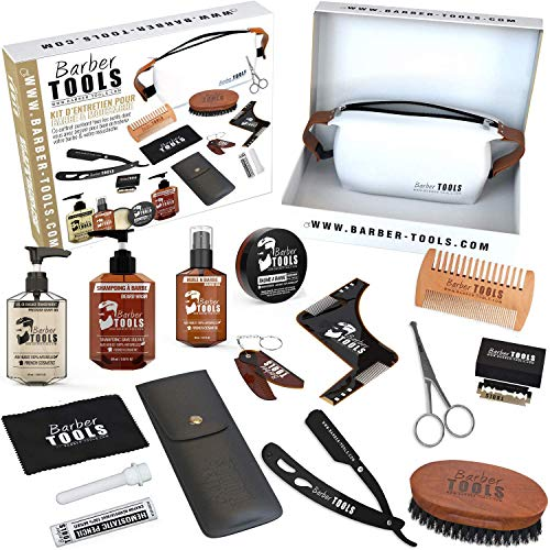 ✮ BARBER TOOLS ✮ Kit / Bartpflege set/ Bart-set / Bart und Rasur | Kosmetik Made in French
