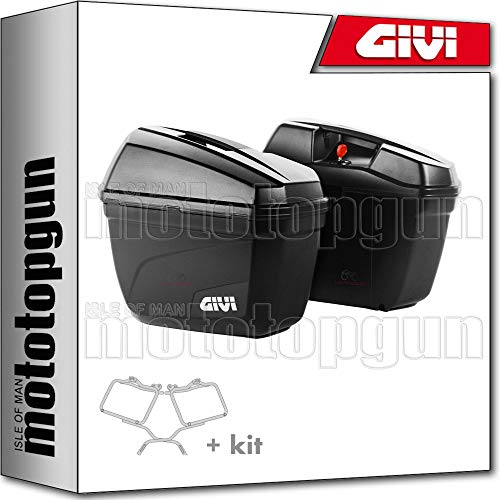 givi portamaletas lateral + maletas lateral monokey e22n compatible con suzuki dl...