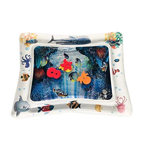 Baby Wasser Spielmatte, Aufblasbare Spielmatten Auslaufsicher BPA-frei Unterwasserwelt Wasser-Matte Spielzeug Spieldecke