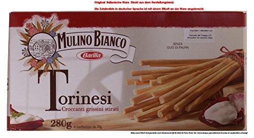 Mulino Bianco Torinesi Croccanti grissini stirati 6 x 280g = 1680g Salzige Backware Grissini