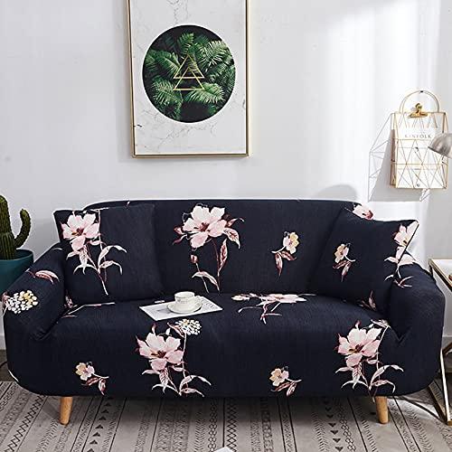 Funda de sofá elástica de Spandex Tight Wrap Fundas de sofá con Todo Incluido para Sala de Estar Funda de sofá seccional Love Seat Patio D3 4 Asientos 235-300cm-1pc