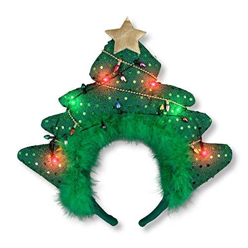 LED Sparkling Christmas Tree Light Up Headband