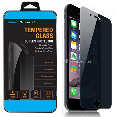MagicGuardz, Made for Apple 4.7  iPhone 6 and 6S, Privacy Anti-Spy Tempered Glass Screen Protector Shield, Retail Box
