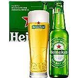 """【Amazon.co.jp限定】 【母の日ギフトに】 [瓶ビール]ハイネケン 瓶 オリジナルグラス""""STAR GLASS""""1個付 [ ラガータイプ 日本 330ml×8本 ]"""