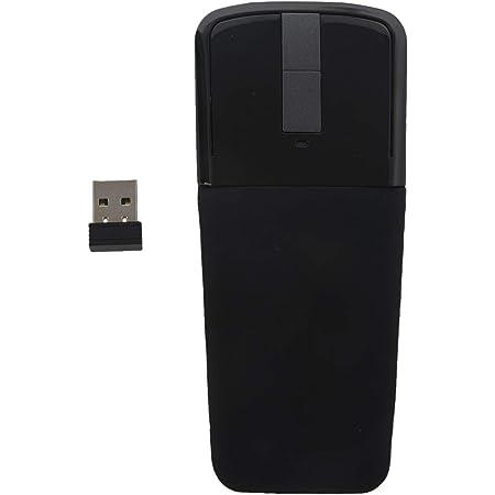 TOOGOO 2.4Ghz Plegable raton inalambrico plegable Arc Touch delgado raton raton para computadora