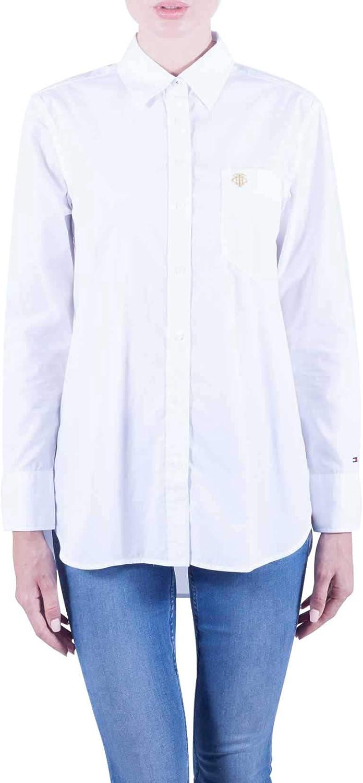 Tommy Hilfiger Essential Girlfriend camisa para mujer: Amazon ...