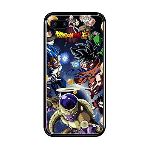 RO&CO Funda iPhone 7 Plus/iPhone 8 Plus 5.5 Inch Case Dragon Ball Son Goku Black Silicone Soft Case D-043