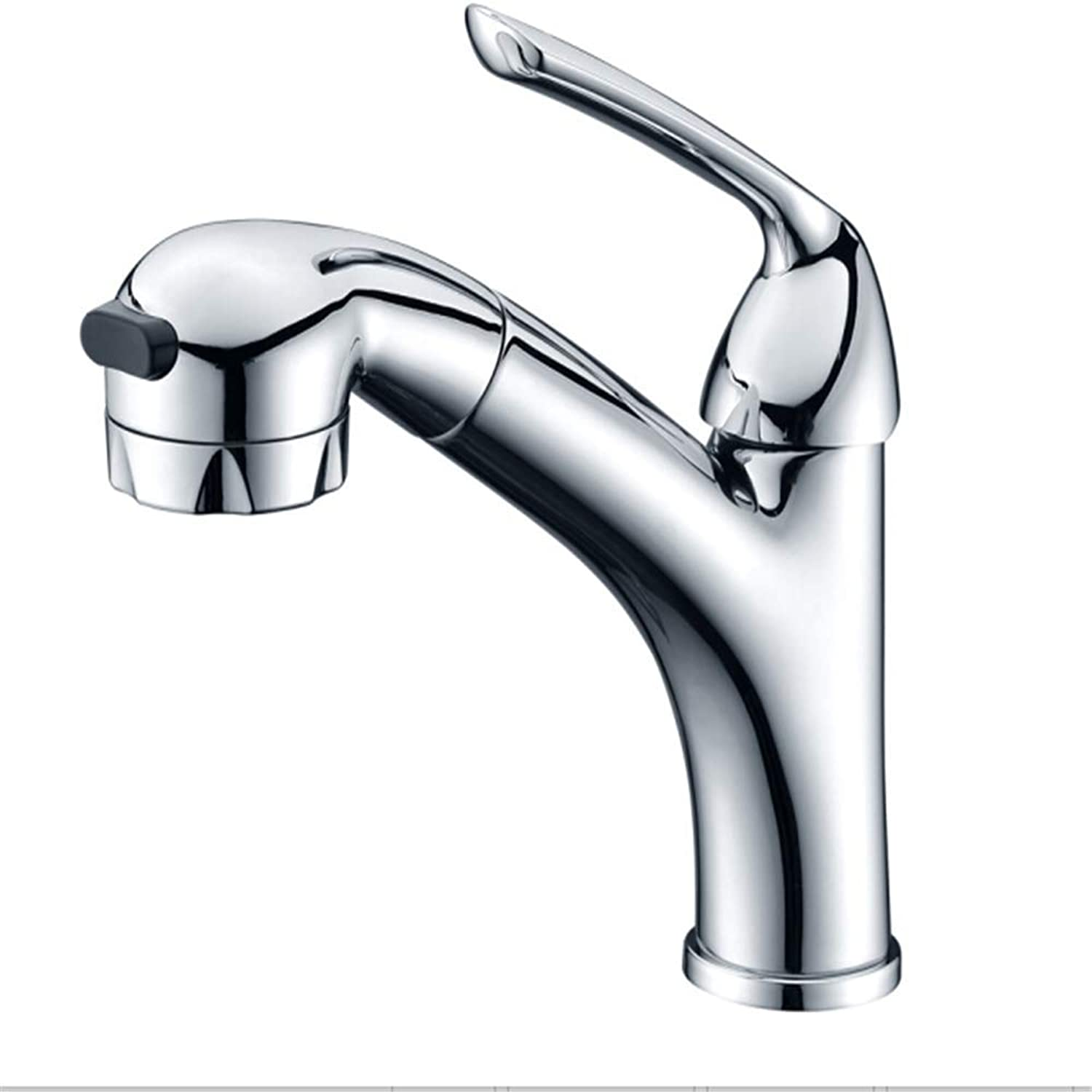 Kitchen Taps Faucet Modern Kitchen Sink Taps Stainless Steelfull Copper Cold and Hot Water Nozzle Washbasin Pull Faucet