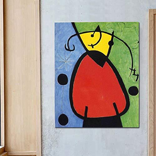 YuanMinglu Drucken Sie das Wohnzimmer Wohnkultur Moderne Wandkunst Ölgemälde Poster Bild rahmenlose Malerei auf der Leinwand am Tag der Geburt 60x75cm