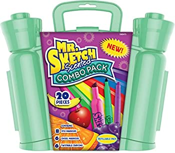 20-Pieces Mr. Sketch Scented Combo Pack with Markers & Twist Crayons
