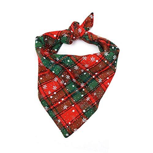 Fettinow, bandana natalizia per cani di razza grande, bandana per cani di bufalo – accessorio di Natale per cani – Premium Dog Red Buffalo Plaid Sciarpa per cani