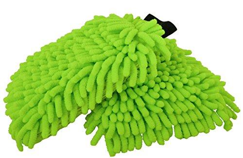 2x Mikrofaserhandschuhe für die Reinigung von Auto, Motorrad, Fahrrad oder Boot im Sparset - auch prima zur schonenden Felgenreinigung oder Rinseless Wash