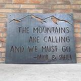 Ced454sy Parejas de montaña cartel personalizado de metal para exteriores