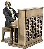 Jfsm Inc Piano Player Pianist Statua Scultura Statuetta Tuta–Black Edition–Jazz Band Collection