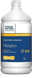 Óleo de Massagem Neutro, D'agua Natural, 1 litro