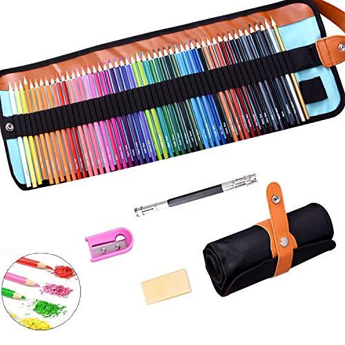 SUPRBIRD Matite Colorate, Migliori Matite Colorate Set da Disegno, 50 Colori Pastelli Colorati per Sfumare e Stratificare, Ideali per Libri da Colorare e Scuola, Artisti, Principianti, Bambini