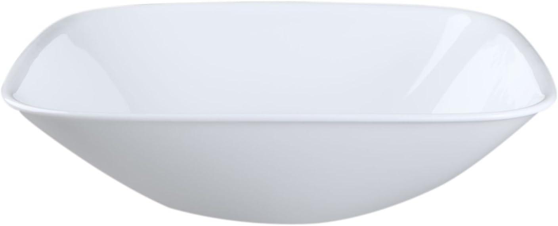 Corelle Coordinates Many popular brands Square Super intense SALE Pure White Se Bowl Serving Quart 1.5