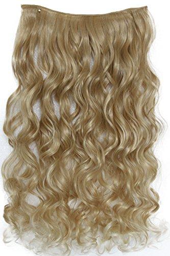 PRETTYSHOP 70cm oder 55cm Clip In Extensions Halbperücke Haarverlängerung Haarverdichtung Haarteil hitzebeständig wie Echthaar div. Farben (70cm blondmix #27T613 C54-1)